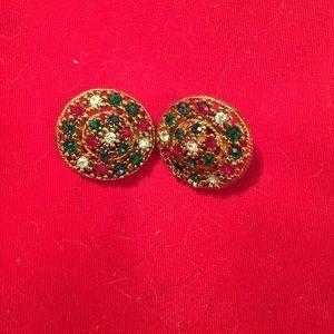 Vintage clip on earrings